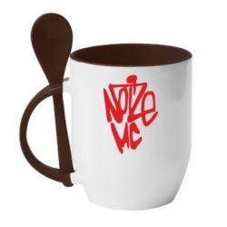 Кружка с керамической ложкой Noize MC - FatLine