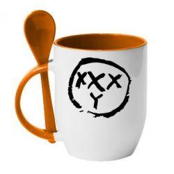 Кружка с керамической ложкой Oxxxy - FatLine