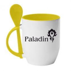 Кружка с керамической ложкой Paladin - FatLine
