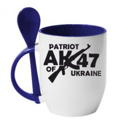 Кружка с керамической ложкой Patriot of Ukraine - FatLine