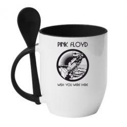 Кружка с керамической ложкой Pink Floyd Wish You - FatLine