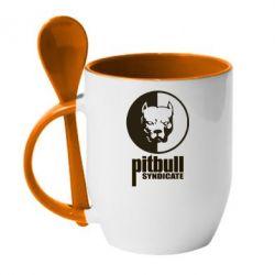 Кружка с керамической ложкой Pitbull Syndicate - FatLine