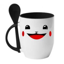 Кружка с керамической ложкой Pokemon Smile - FatLine