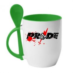 Кружка с керамической ложкой Pride Logo - FatLine