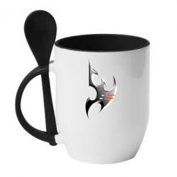 Кружка с керамической ложкой Protoss Symbol - FatLine