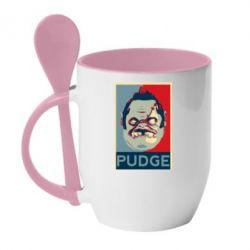 Кружка с керамической ложкой Pudge aka Obey - FatLine