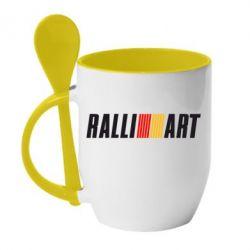Кружка с керамической ложкой Ralli Art Small - FatLine