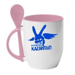 Кружка с керамической ложкой Республика Казантип - FatLine