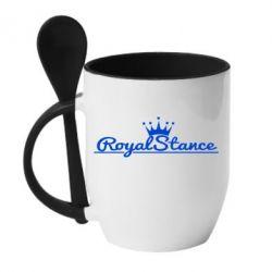 Кружка с керамической ложкой Royal Stance - FatLine