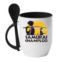 Кружка с керамической ложкой Samurai Champloo - FatLine
