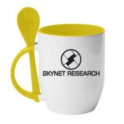 Кружка с керамической ложкой Skynet Research - FatLine