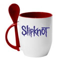 Кружка с керамической ложкой Slipknot - FatLine