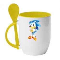 Кружка с керамической ложкой Sonic - FatLine