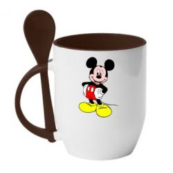 Кружка с керамической ложкой Сool Mickey Mouse - FatLine
