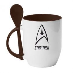 Кружка з керамічною ложкою Star Trek
