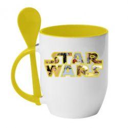 Кружка с керамической ложкой Star Wars 3D - FatLine