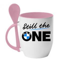 Кружка с керамической ложкой Still the one - FatLine