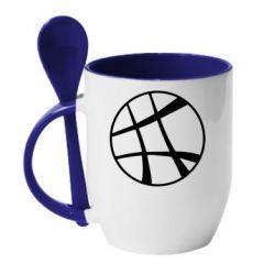 Кружка с керамической ложкой Strange Logo
