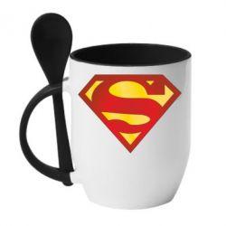 Кружка с керамической ложкой Superman Classic - FatLine