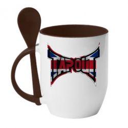 Кружка с керамической ложкой Tapout England - FatLine