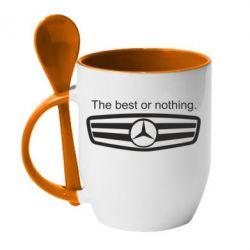 Кружка с керамической ложкой The best or nothing