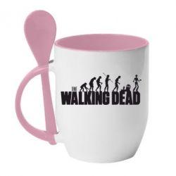 Кружка с керамической ложкой The Walking Dead Evolution