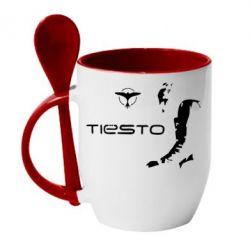 Кружка с керамической ложкой Tiesto - FatLine