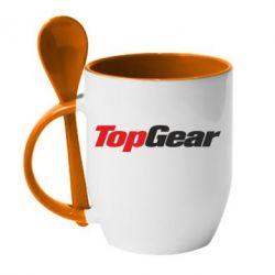 Кружка с керамической ложкой Top Gear - FatLine