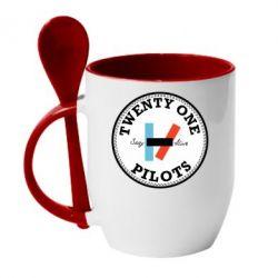 Кружка з керамічною ложкою Twenty One Pilots Stay Alive