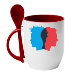 Кружка с керамической ложкой Tyler Durden & Jack