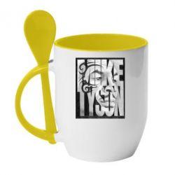 Кружка с керамической ложкой Tyson Art - FatLine