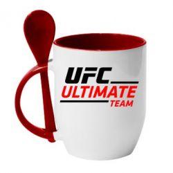 Кружка с керамической ложкой UFC Ultimate Team - FatLine