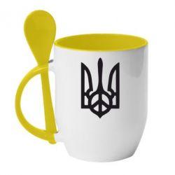 Кружка с керамической ложкой Ukraine Peace - FatLine