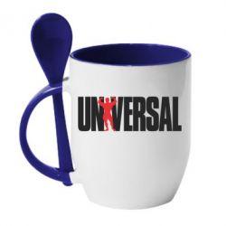 Кружка с керамической ложкой Universal - FatLine