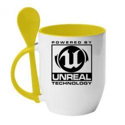 Кружка с керамической ложкой Unreal - FatLine