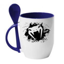 Кружка с керамической ложкой Venum Art
