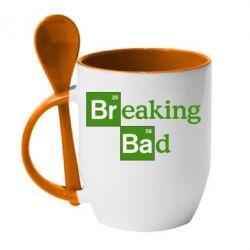 Кружка с керамической ложкой Во все тяжкие (Breaking Bad) - FatLine
