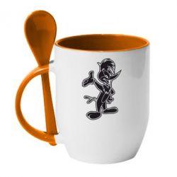 Кружка с керамической ложкой Вуди Вудпекер - FatLine