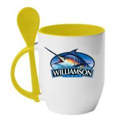 Кружка с керамической ложкой Williamson - FatLine