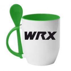 Кружка с керамической ложкой WRX - FatLine