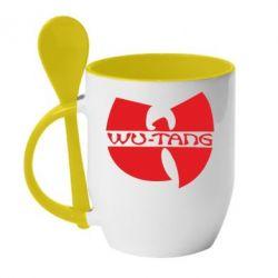 Кружка с керамической ложкой WU-TANG - FatLine