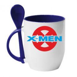 Кружка с керамической ложкой X-men - FatLine