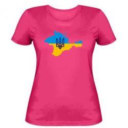 Женская футболка Крым это Украина - FatLine