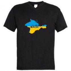 Мужская футболка  с V-образным вырезом #Крымнаш - FatLine