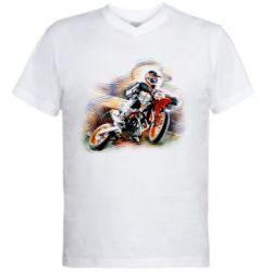Мужская футболка  с V-образным вырезом KTM Art