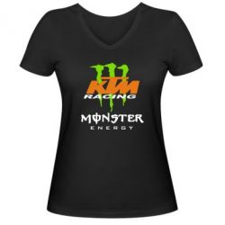 Женская футболка с V-образным вырезом KTM Monster Enegry - FatLine