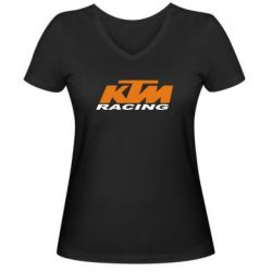 Женская футболка с V-образным вырезом KTM Racing - FatLine