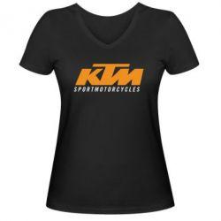 Женская футболка с V-образным вырезом KTM Sportmotorcycles - FatLine