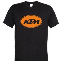 Мужская футболка  с V-образным вырезом KTM - FatLine