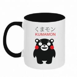 Кружка двоколірна 320ml Kumamon